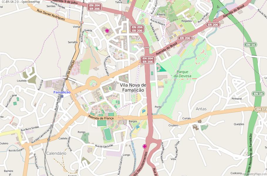 Vila Nova de Famalicão Portugal Map