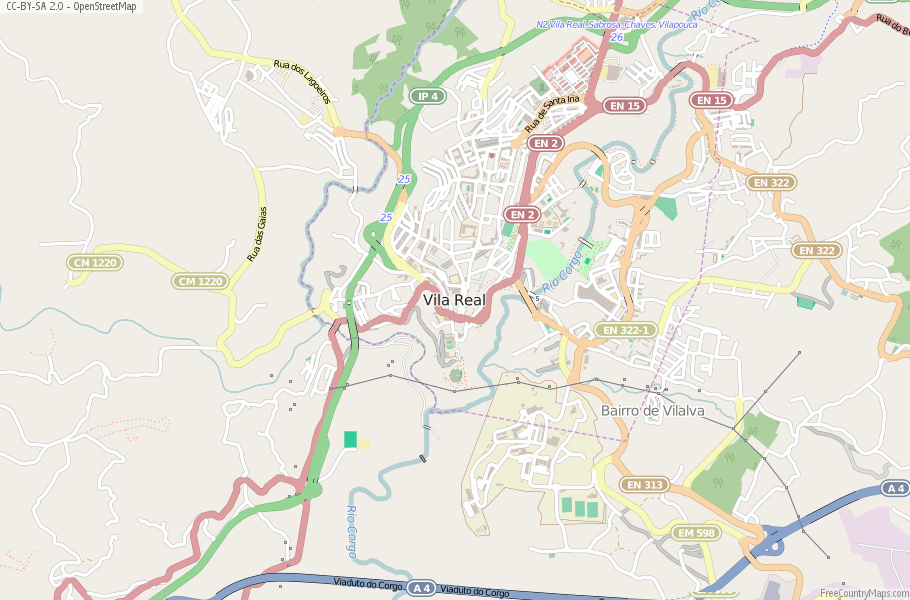 Vila Real Portugal Map