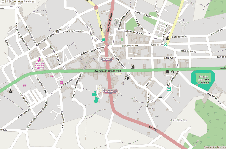 A Estrada Spain Map