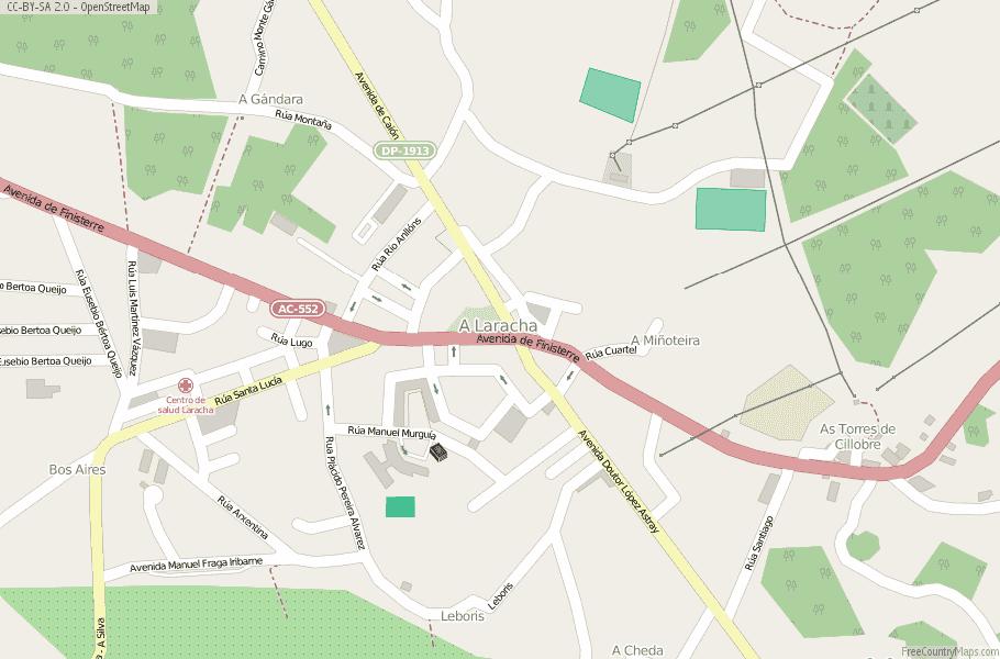 A Laracha Spain Map