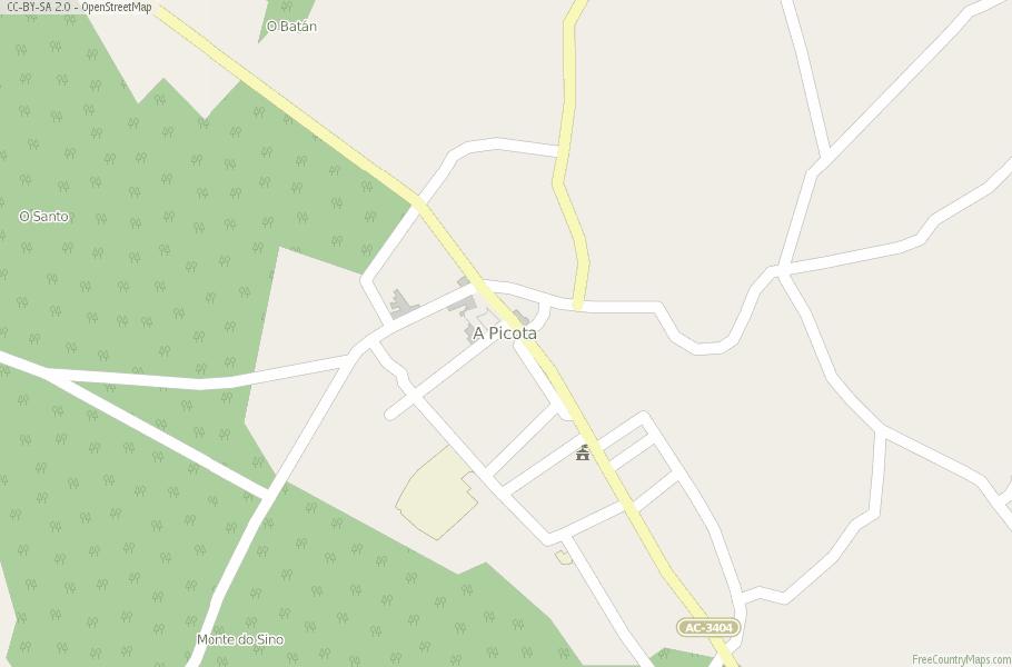 A Picota Spain Map