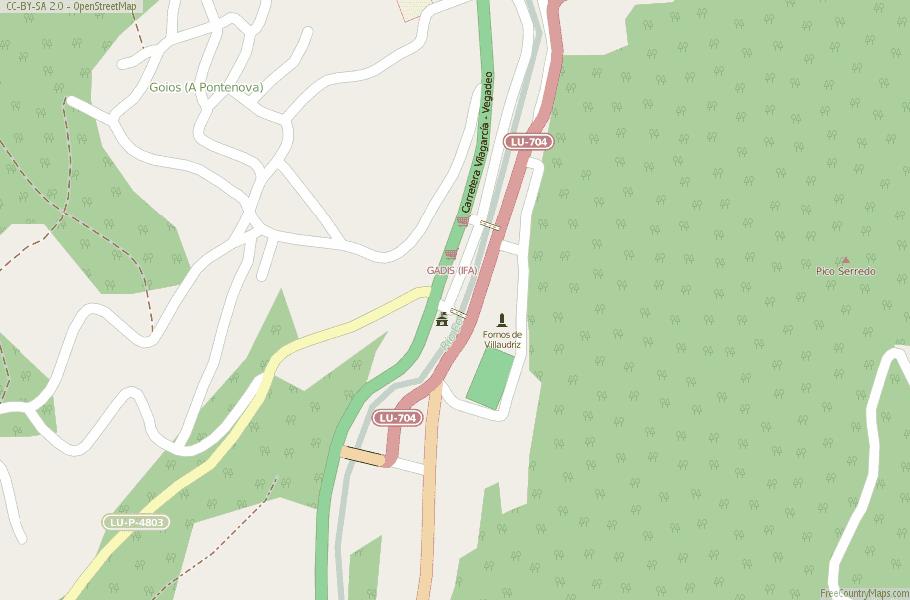 A Pontenova Spain Map