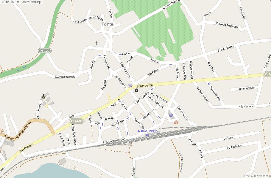 A Rúa de Valdeorras Spain Map