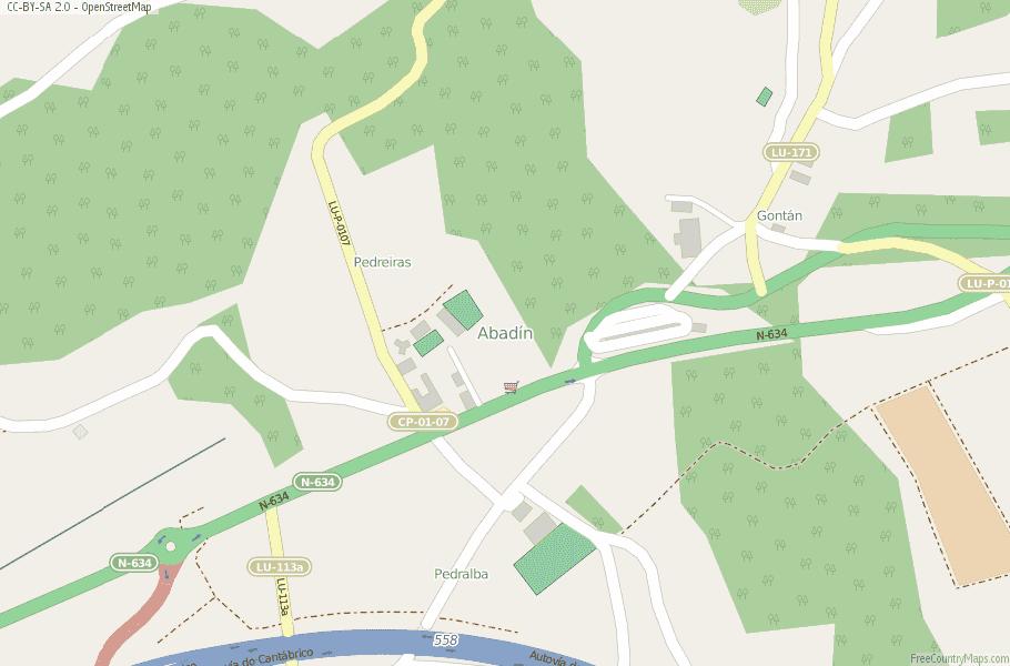 Abadín Spain Map