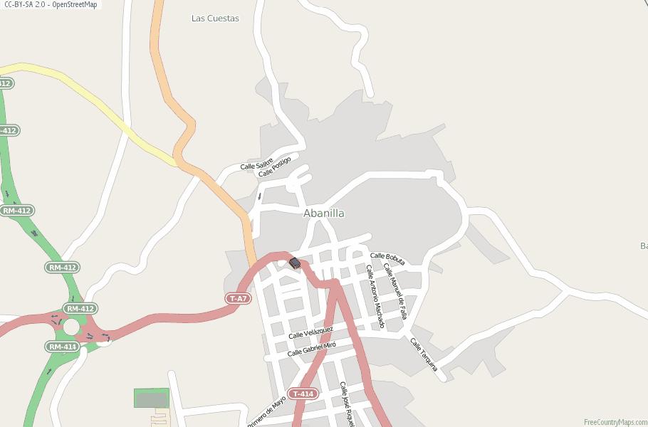 Abanilla Spain Map
