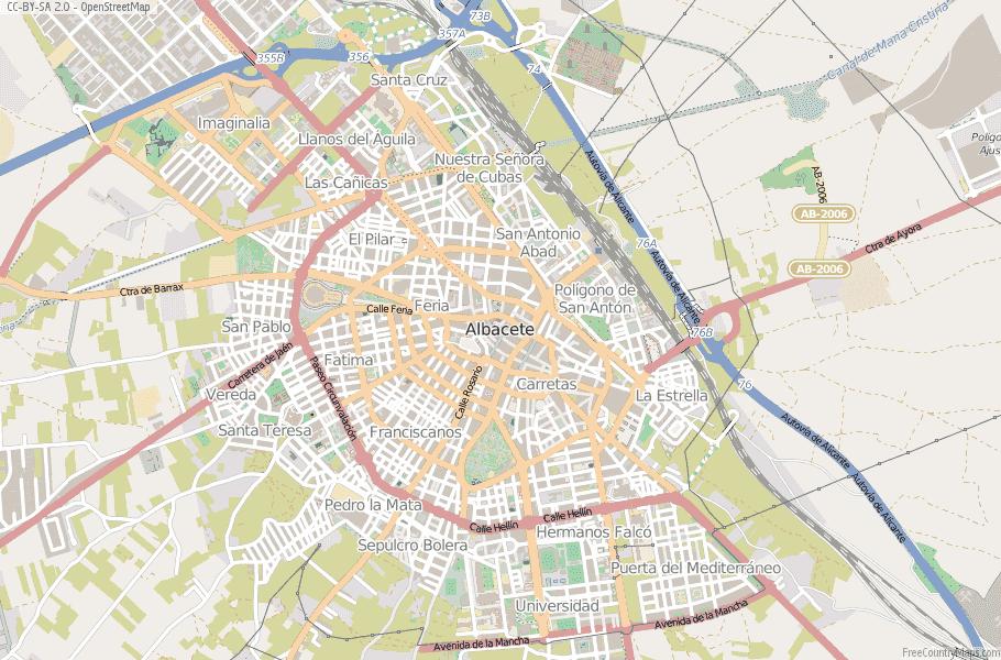 Map Of Spain La Mancha.Albacete Map Spain Latitude Longitude Free Maps