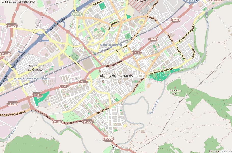 Alcalá de Henares Spain Map