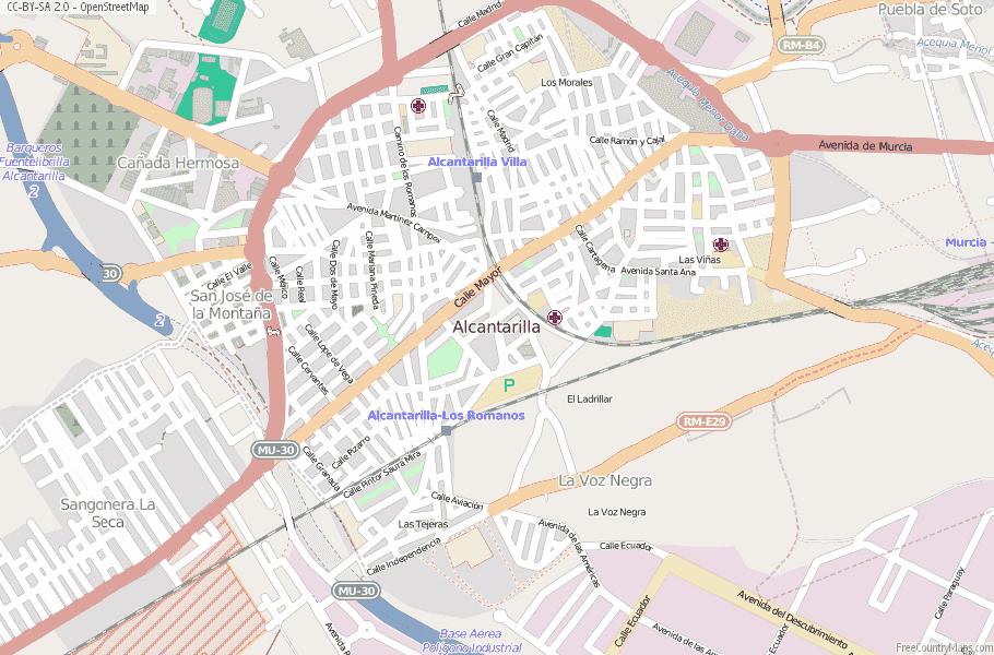 Alcantarilla Spain Map