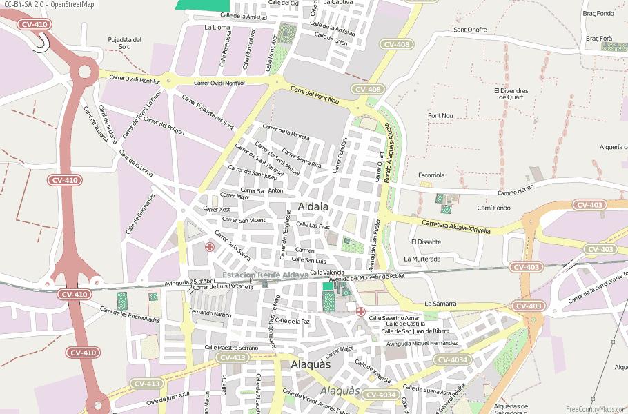 Aldaia Spain Map