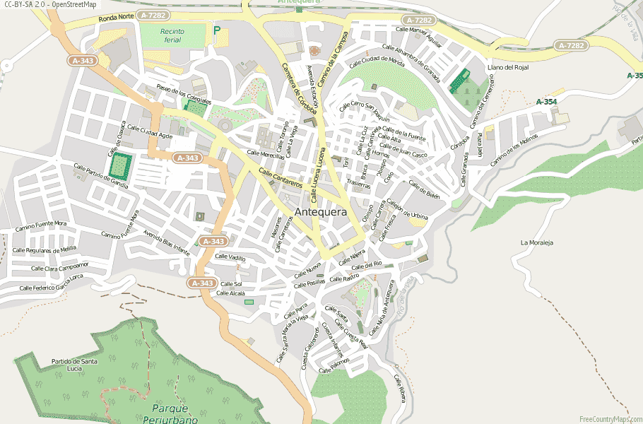Antequera Spain Map