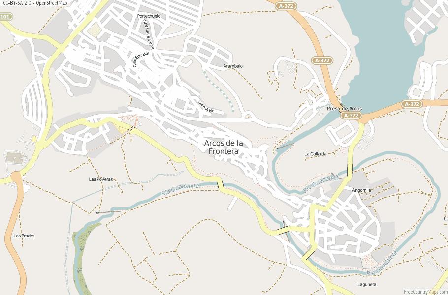 Arcos de la Frontera Spain Map
