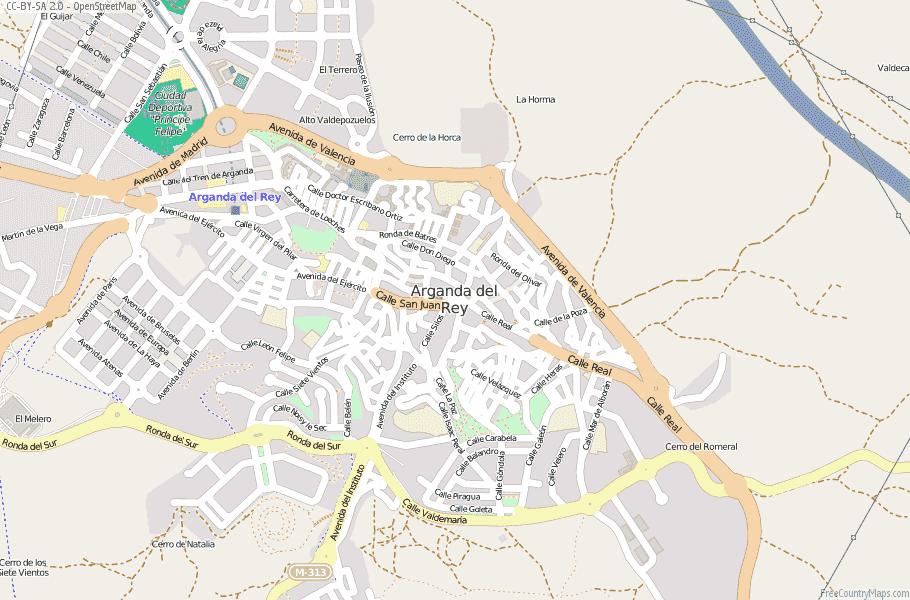 Arganda del Rey Spain Map