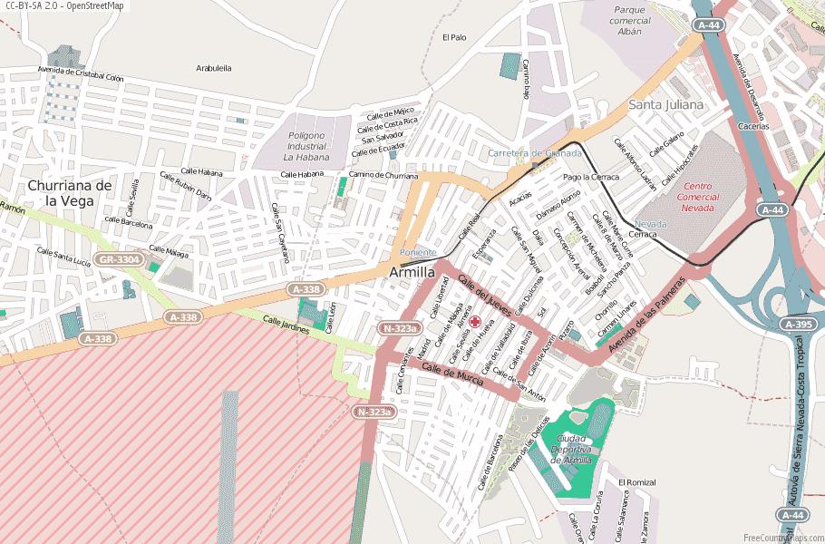 Armilla Spain Map