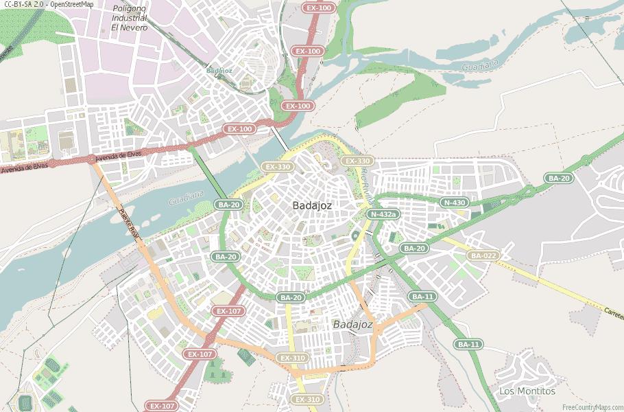 Badajoz Spain Map