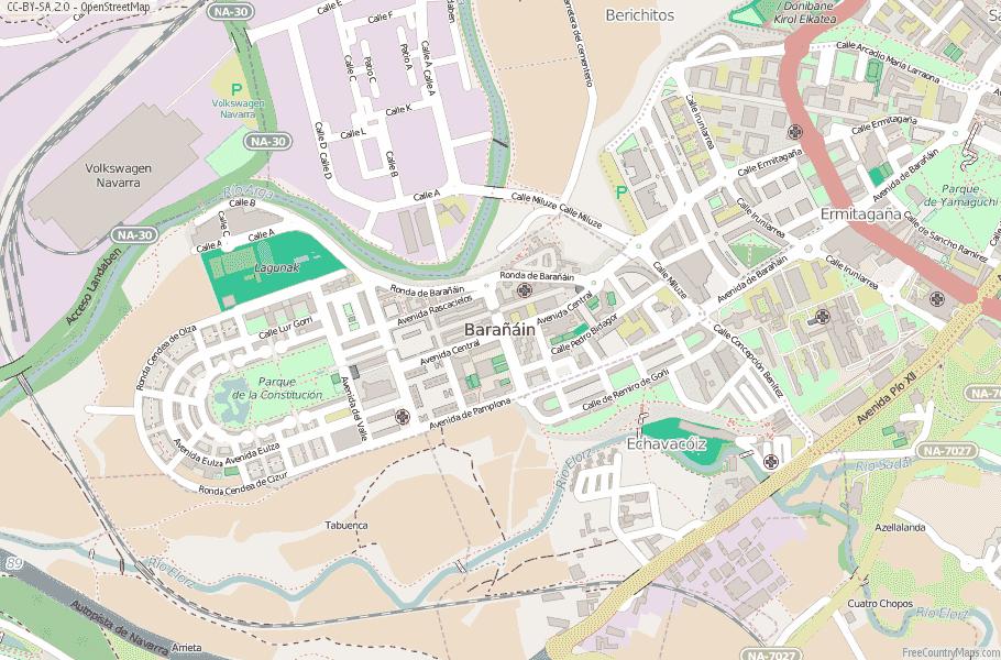 Barañáin Spain Map