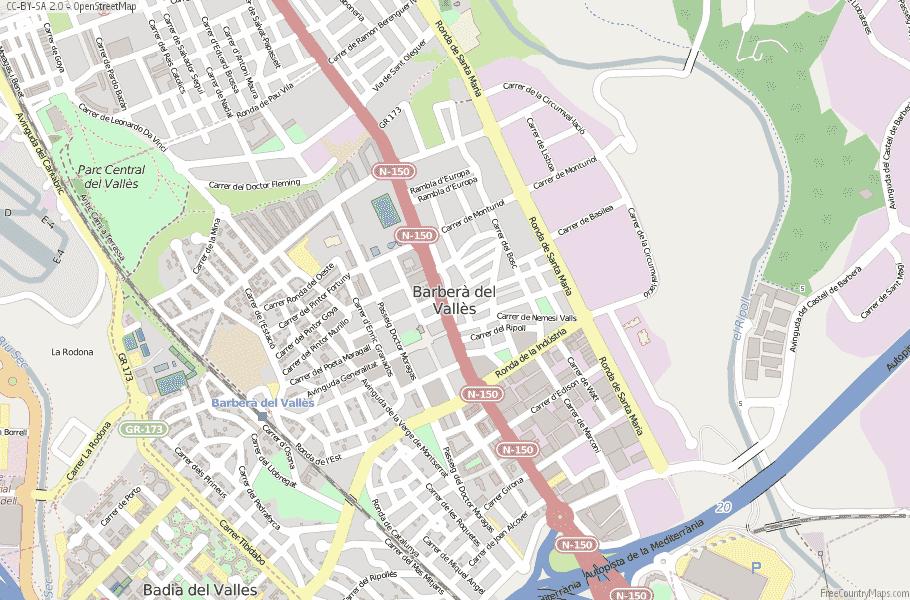 Barberà del Vallès Spain Map