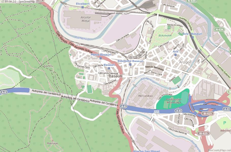 Basauri Spain Map