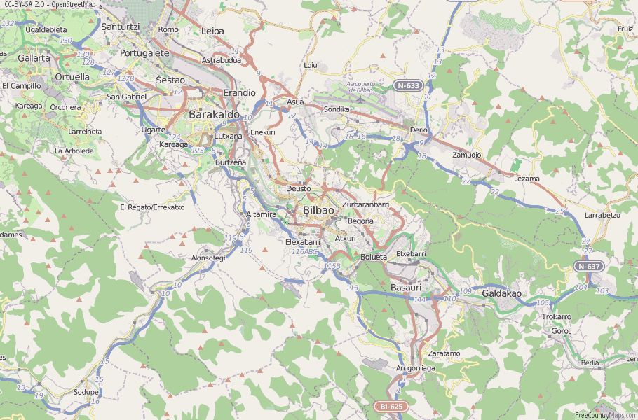 Bilbao On Map Of Spain.Bilbao Map Spain Latitude Longitude Free Maps