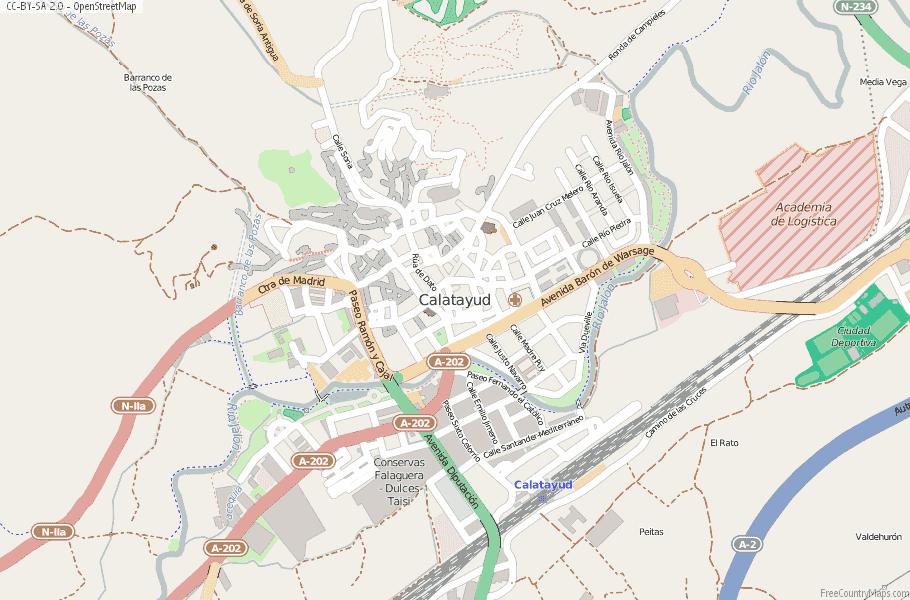 Calatayud Spain Map.Calatayud Map Spain Latitude Longitude Free Maps