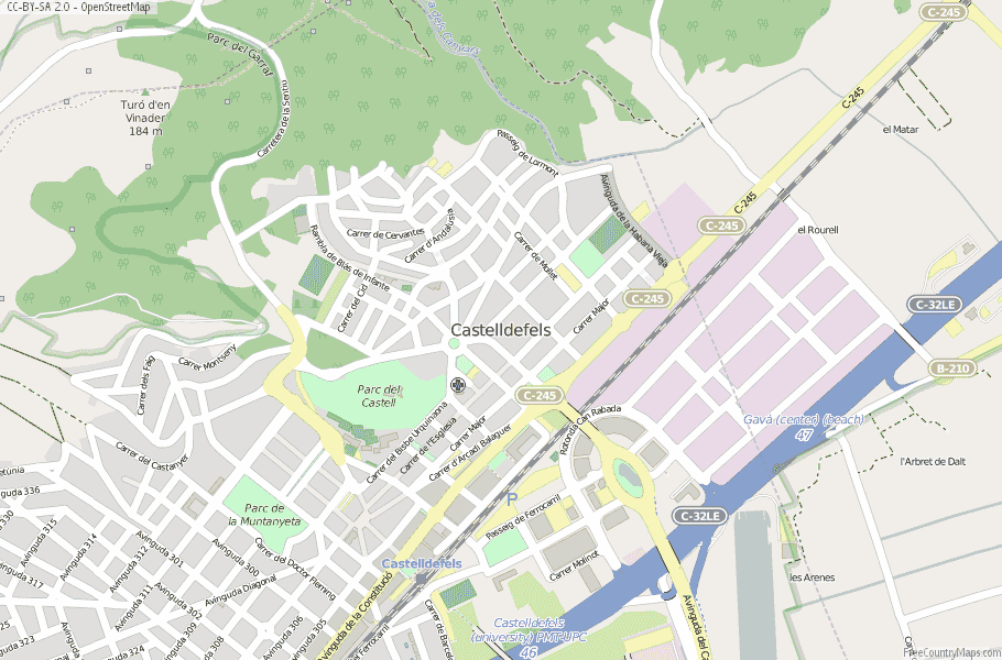 Castelldefels Spain Map