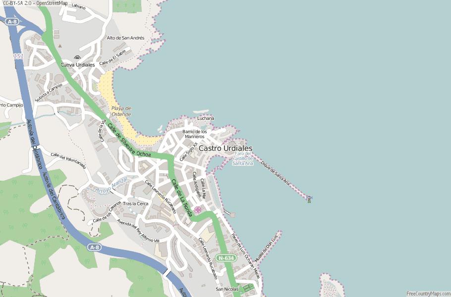 Castro Urdiales Spain Map