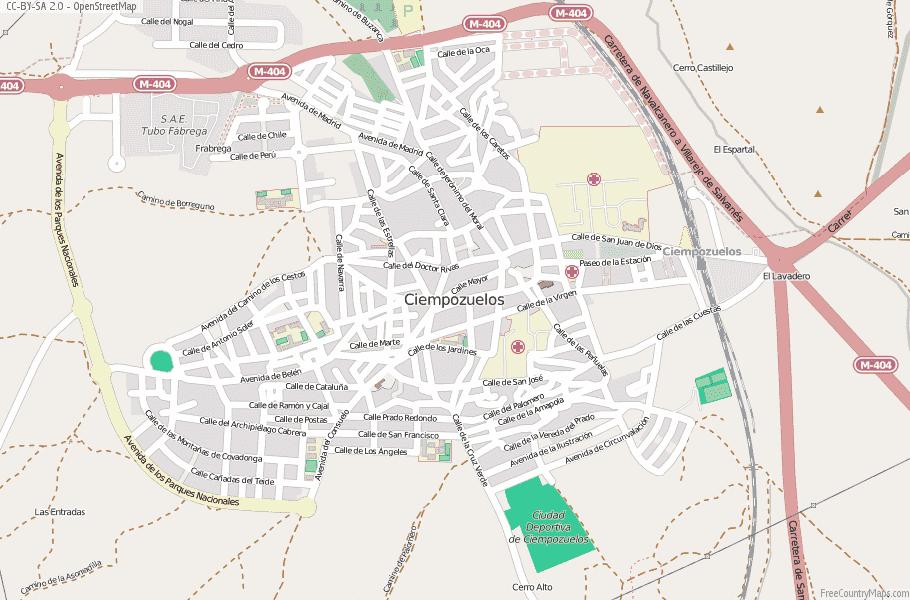 Ciempozuelos Spain Map