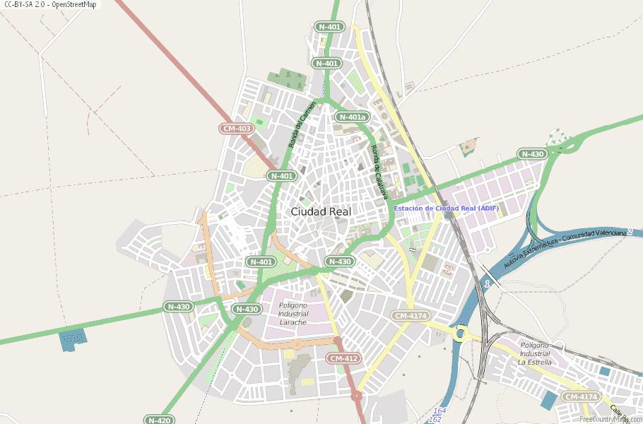 Ciudad Real Spain Map