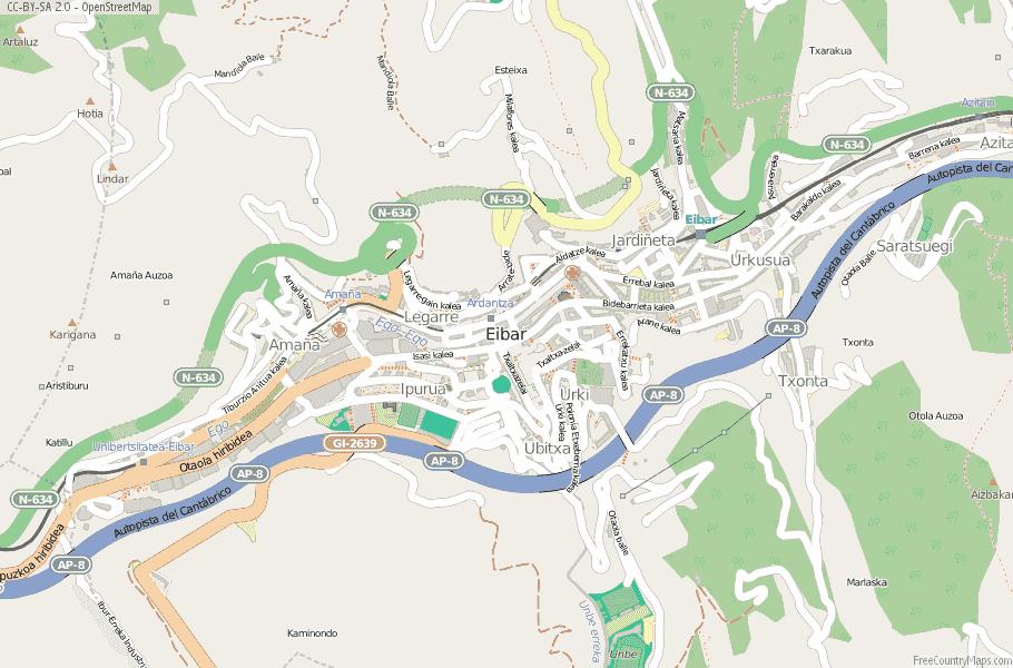 Map Of Spain Eibar.Eibar Map Spain Latitude Longitude Free Maps