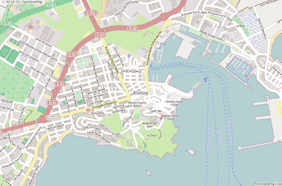 Eivissa Spain Map