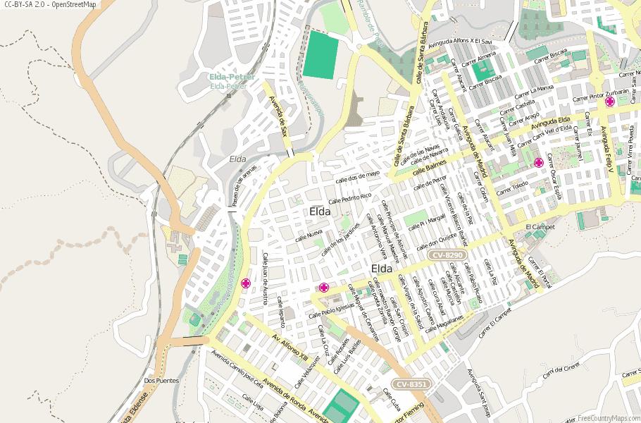 Elda Spain Map
