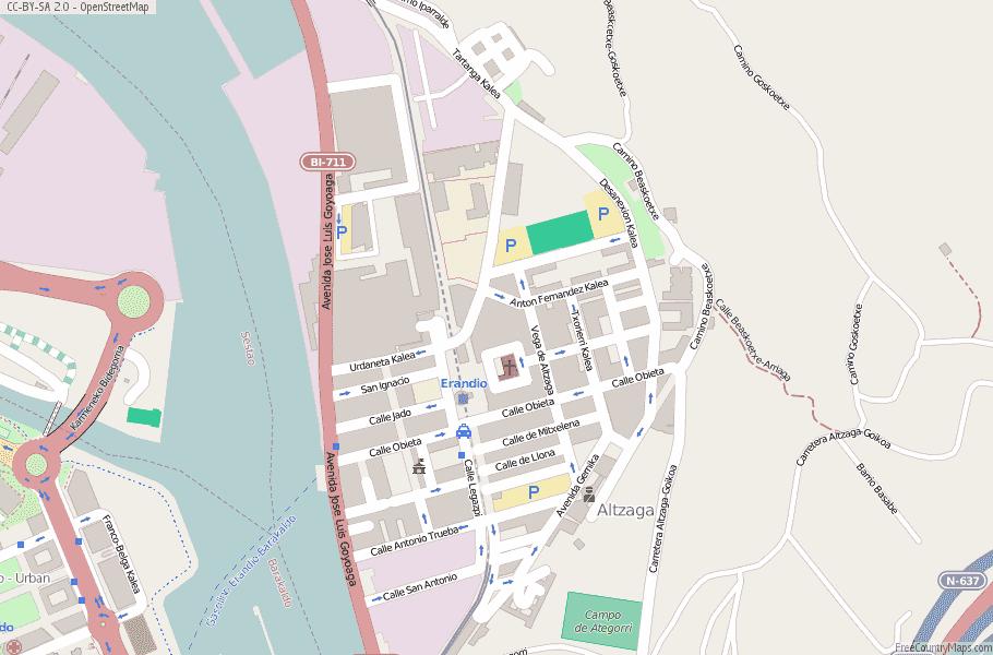 Map Of Spain 711.Erandio Map Spain Latitude Longitude Free Maps
