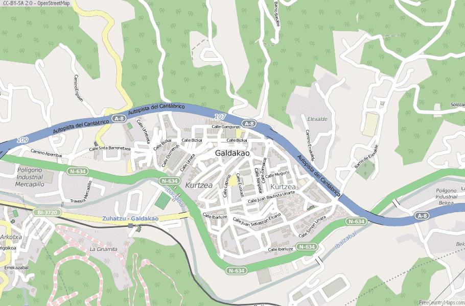 Galdakao Spain Map