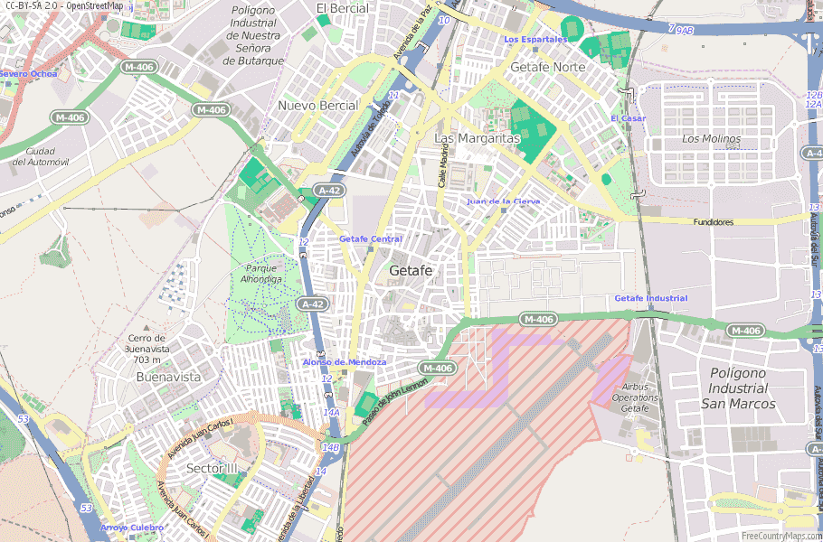 Getafe Spain Map