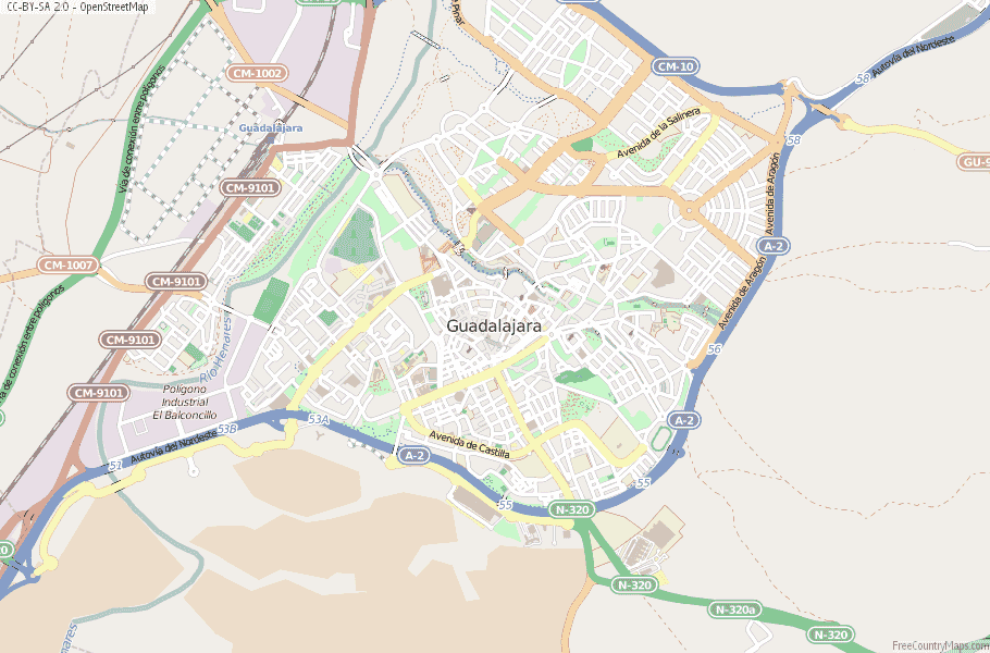 Guadalajara Spain Map