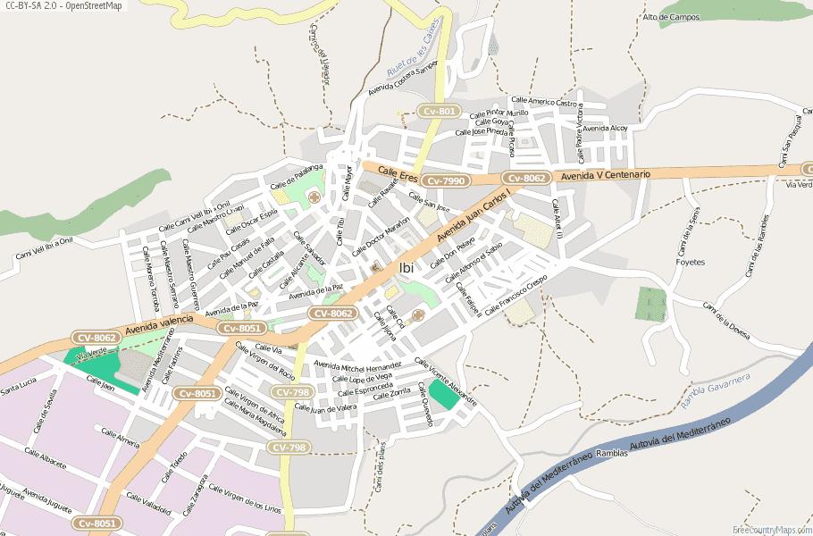 Ibi Spain Map