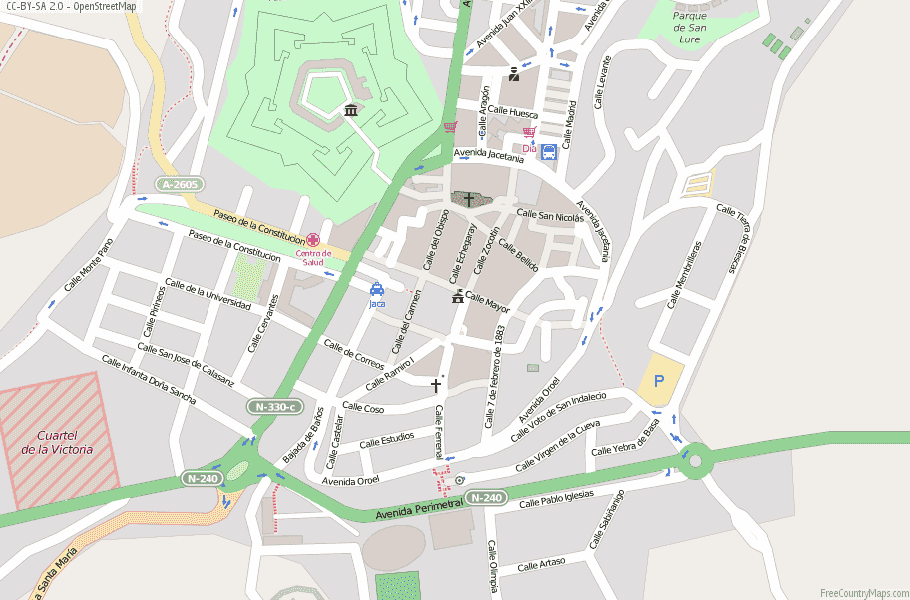 Map Of Spain Huesca.Jaca Map Spain Latitude Longitude Free Maps