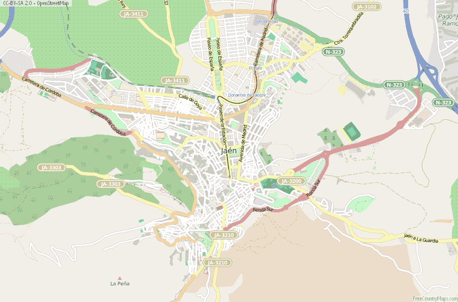 Map Of Spain Jaen.Jaen Map Spain Latitude Longitude Free Maps