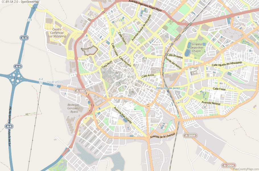 Jerez de la Frontera Spain Map