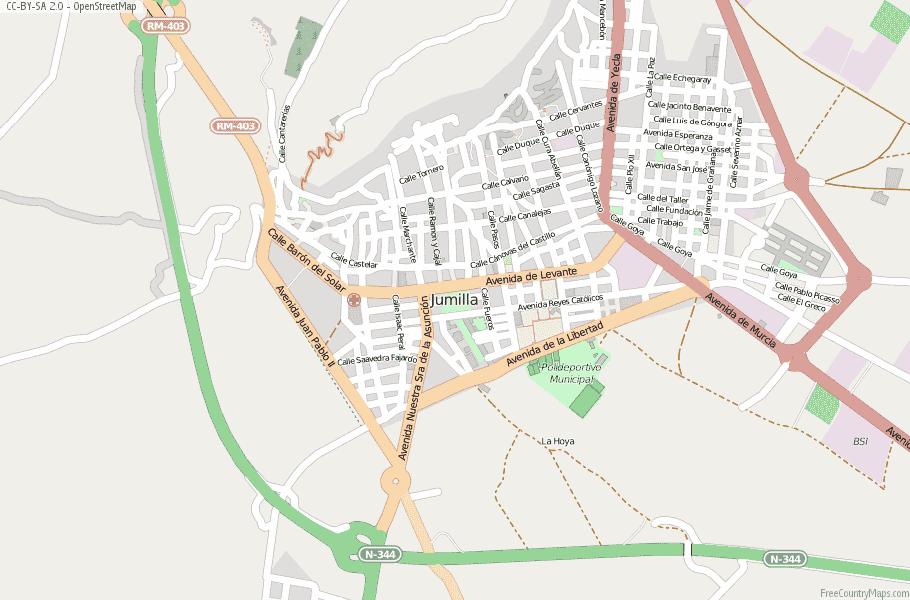 Jumilla Map Spain Latitude Longitude Free Maps