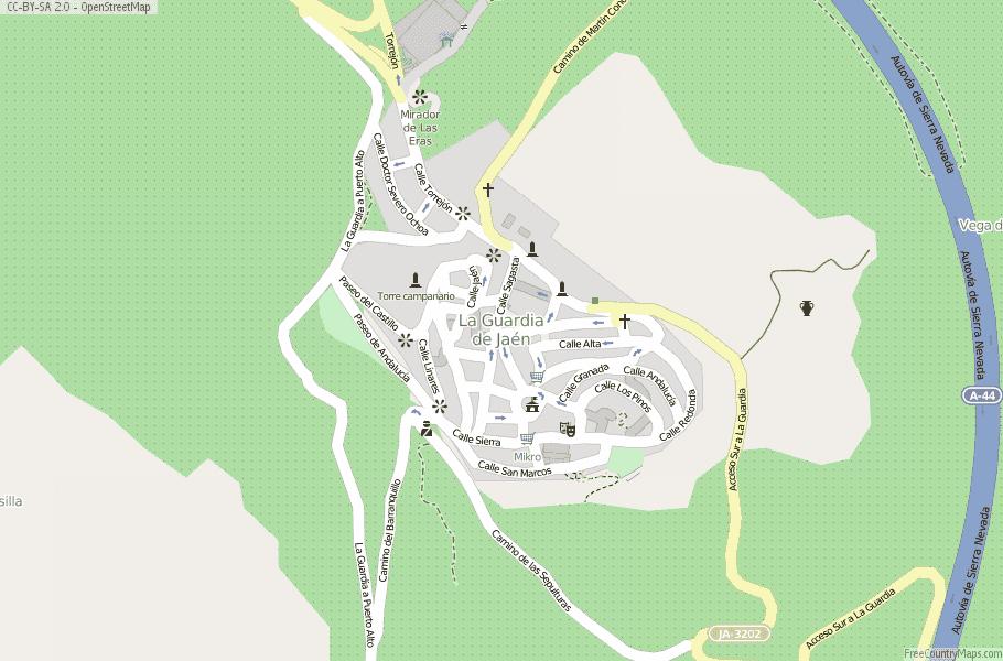 Map Of Spain Jaen.La Guardia De Jaen Map Spain Latitude Longitude Free Maps