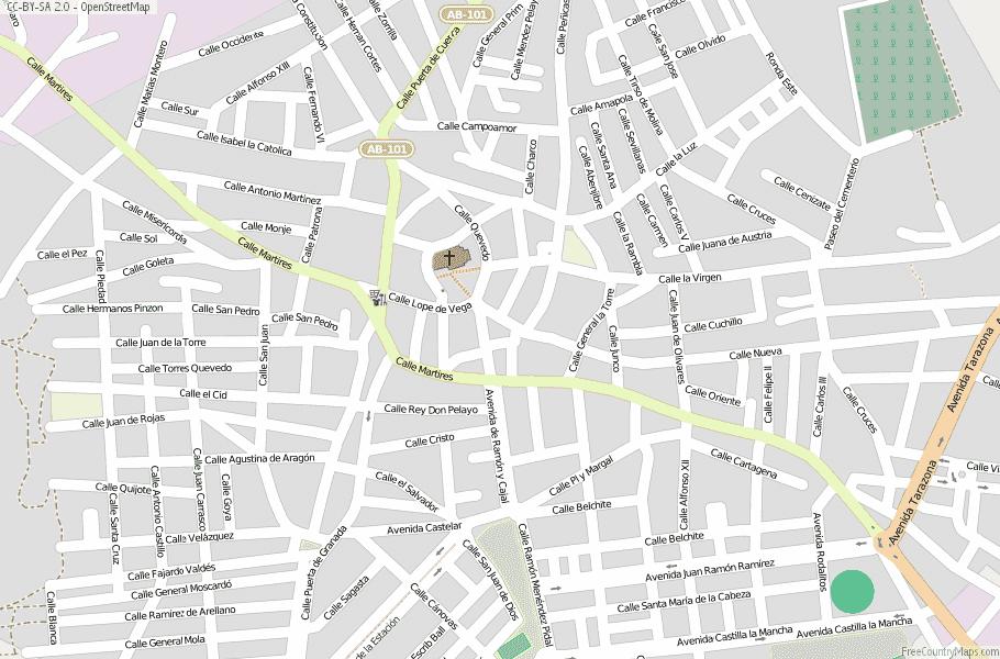 La Roda Map Spain Latitude Longitude Free Maps