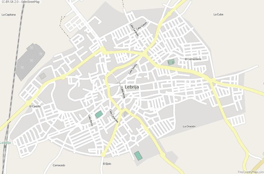 Lebrija Spain Map