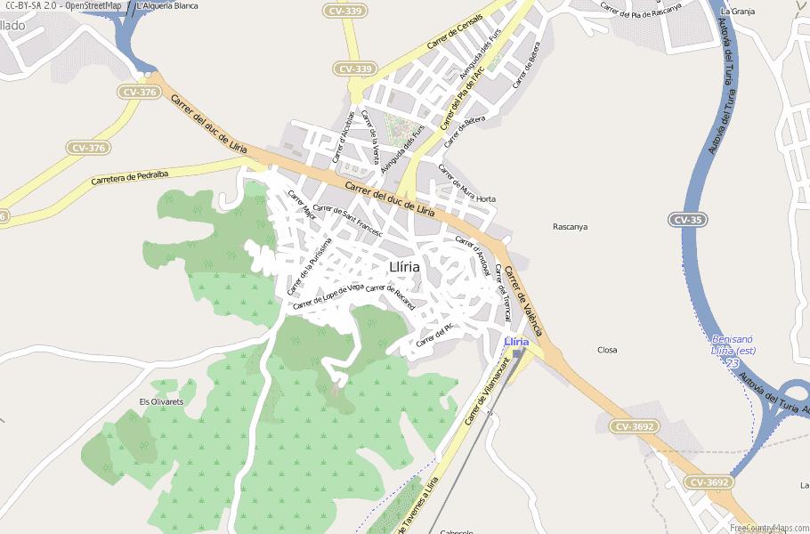 Llíria Spain Map