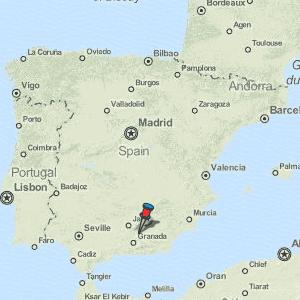 Map Of Spain La Coruna.Montejicar Map Spain Latitude Longitude Free Maps