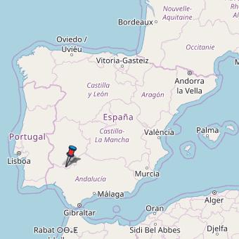 Map Of Spain Leon.Calera De Leon Map Spain Latitude Longitude Free Maps