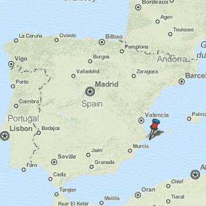 Altea Map Spain Latitude & Longitude: Free Maps