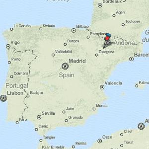 Map Of Spain Huesca.Huesca Map Spain Latitude Longitude Free Maps