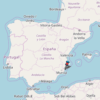 Map Of Yecla Spain.Daya Nueva Map Spain Latitude Longitude Free Maps