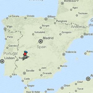 Merida Map Spain Latitude Longitude Free Maps