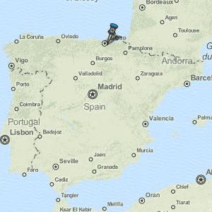 Bilbao Map Spain Latitude Longitude Free Maps